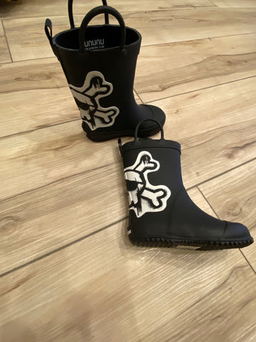 Nununu Skull Patch Rainboots