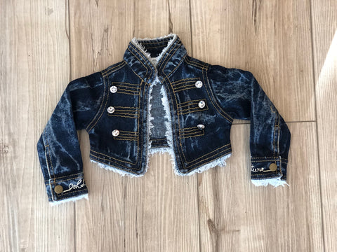 Ooh La La Signature Denim Rhinestone Jacket girls