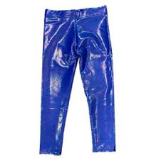 Electric Blue Lame Legging