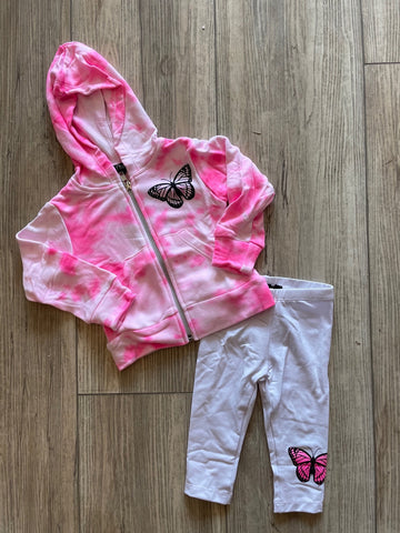 FBZ Neon Pink White Smoke Baby Girl Set