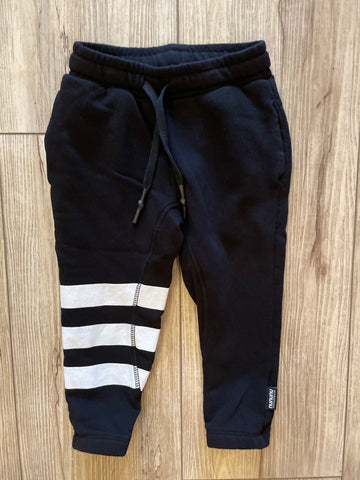 Nununu Triple Strip Black Sweatpants
