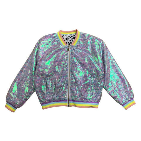Lola & The Boys Retro Sequin Bomber Girls