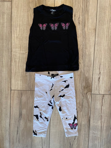 FBZ Black Butterfly Tank & Tye Dye Leggings Baby Girl