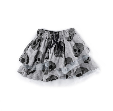 Nununu Layered Skull Skirt