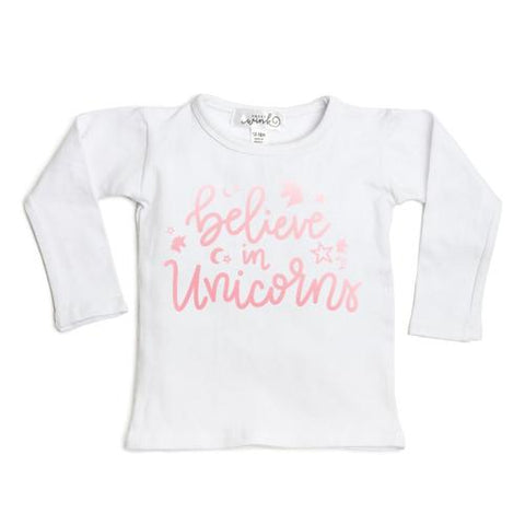 Sweet Wink Believe in Unicorn Long Sleeve Tee