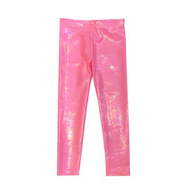 Bubblegum Pink Lame Legging
