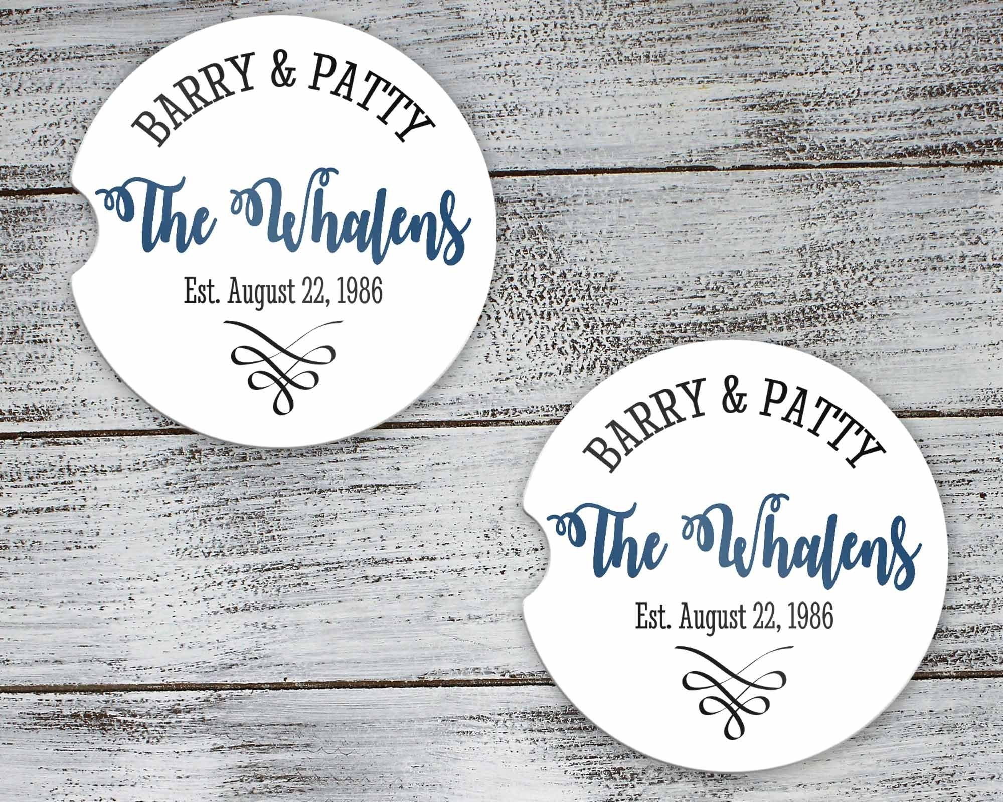 Car Accessories | Personalized Car Coasters | Custom Car Accessories | Anniversary | Set of 2 | This and That Solutions | Personalized Gifts | Custom Home Décor