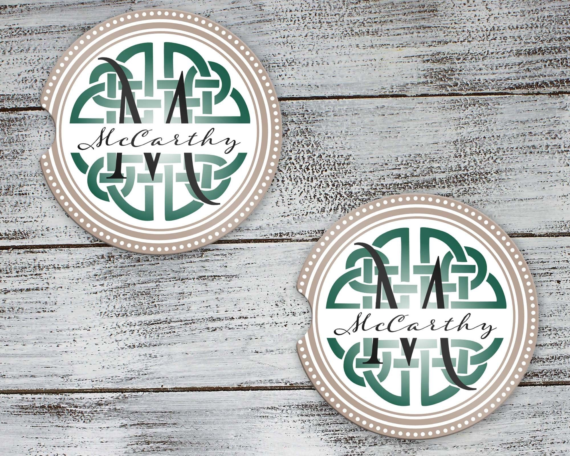 Car Accessories | Personalized Car Coasters | Custom Car Accessories | Celtic Knot | Set of 2 | This and That Solutions | Personalized Gifts | Custom Home Décor