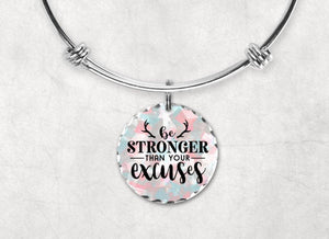 Charm Bracelets - Custom Jewelry | Personalized Jewelry | Bangle Bracelet and Charm | Be Stronger - This & That Solutions