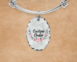 Charm Bracelets - Custom Jewelry | Personalized Jewelry | Bangle Bracelet and Charm | Custom Order - This & That Solutions