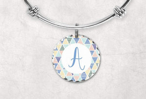 Charm Bracelets - Custom Jewelry | Personalized Jewelry | Bangle Bracelet and Charm | Summer Monogram - This & That Solutions