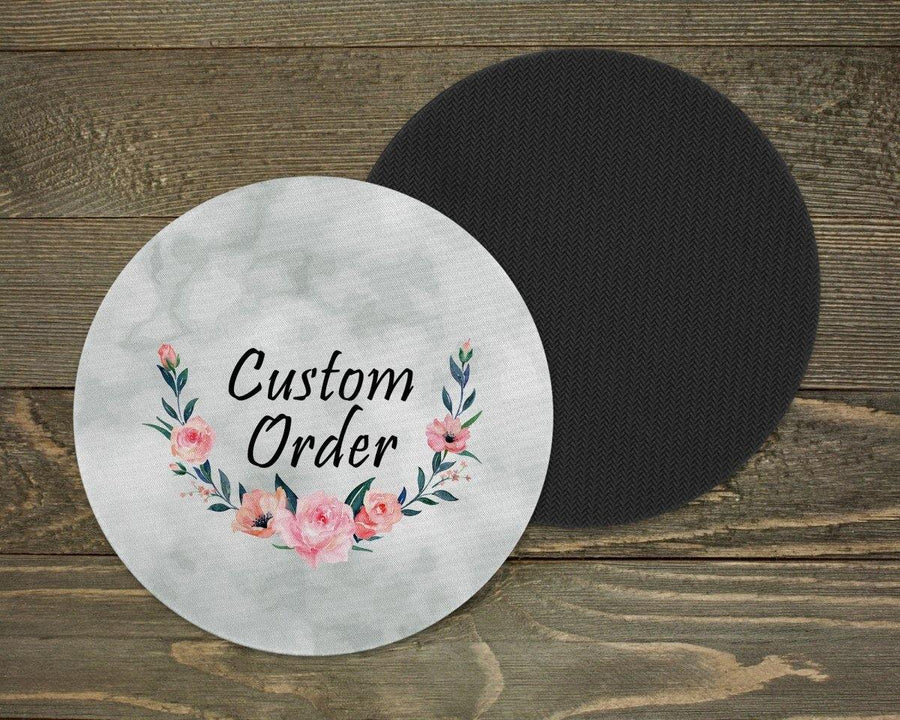 Coasters - Personalized Coasters | Custom Stone Coaster Set | Custom Order | Set of 4 - This & That Solutions