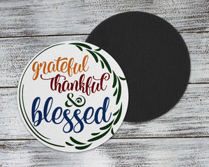 Coasters | Personalized Coasters | Custom Stone Coaster Set | Fall Blessings | Set of 4 | This and That Solutions | Personalized Gifts | Custom Home Décor