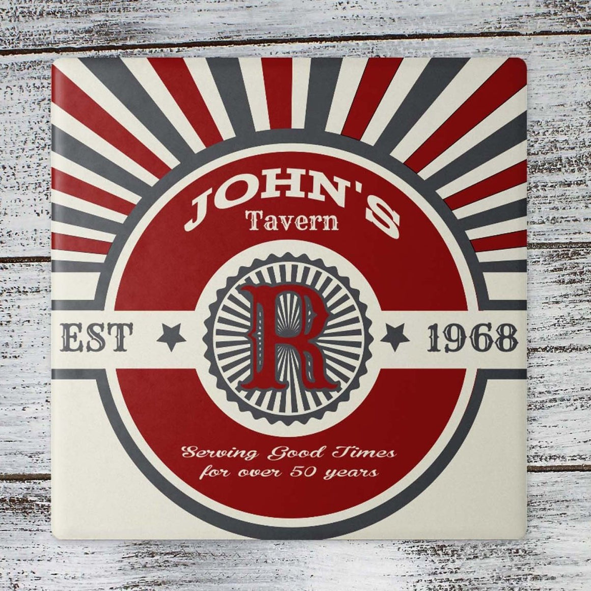 Coasters - Personalized Coasters | Custom Stone Coaster Set | John's Tavern | Set of 4 - This & That Solutions