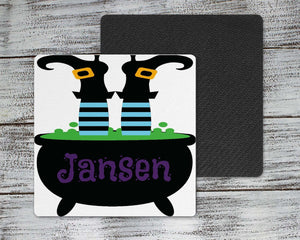 Coasters | Personalized Coasters | Custom Stone Coaster Set | Witches Cauldron | Set of 4 | This and That Solutions | Personalized Gifts | Custom Home Décor