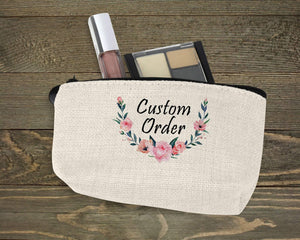 Cosmetic Bags | Personalized Cosmetic Bags | Custom Cosmetic Bags | Custom Order | This and That Solutions | Personalized Gifts | Custom Home Décor