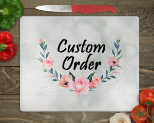 Cutting Boards | Personalized Cutting Board | Custom Glass Cutting Board | Custom Order | This and That Solutions | Personalized Gifts | Custom Home Décor
