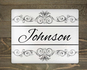 Cutting Boards | Personalized Cutting Board | Custom Glass Cutting Board | Rectangle | Decorative Vine | This and That Solutions | Personalized Gifts | Custom Home Décor