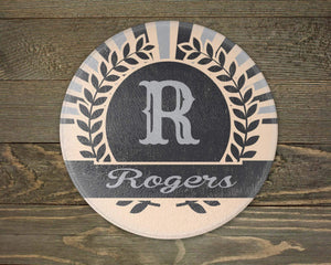 Cutting Boards - Personalized Cutting Board | Custom Glass Cutting Board | Round | Sunburst Retro - This & That Solutions