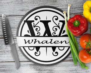 Cutting Boards | Personalized Cutting Board | Custom Glass Cutting Board | Split Apex Monogram | This and That Solutions | Personalized Gifts | Custom Home Décor