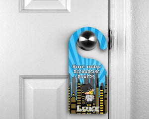 Door Hangers - Customized Door Hanger | Personalized Bedroom Sign | Custom Design | Bat Baby - This & That Solutions