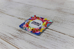 Personalized Magnet | Custom Photo Magnet | Floral Burst - This & That Solutions