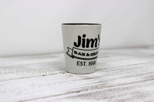 Shot Glasses | Custom Shot Glass | Personalized Shot Glass | Jim's Bar and Grill | This and That Solutions | Personalized Gifts | Custom Home Décor