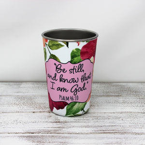 Tumblers & Water Glasses | Stainless Steel Pint Tumbler | Personalized Tumbler | Be Still | This and That Solutions | Personalized Gifts | Custom Home Décor