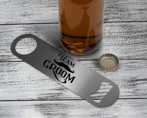 Personalized Bottle Opener | Custom Bottle Opener | Wedding Favor | Team Groom - This & That Solutions
