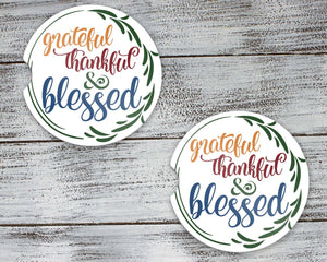 Car Accessories | Personalized Car Coasters | Custom Car Accessories | Fall Blessings | Set of 2 | This and That Solutions | Personalized Gifts | Custom Home Décor