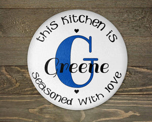 Cutting Boards | Personalized Cutting Board | Custom Glass Cutting Board |  Seasoned with Love | This and That Solutions | Personalized Gifts | Custom Home Décor
