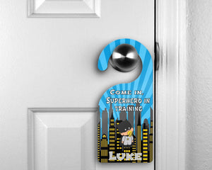 Customized Door Hanger |  Personalized Bedroom Sign | Custom Design | Bat Baby - This & That Solutions