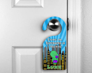 Customized Door Hanger |  Personalized Bedroom Sign | Custom Design | BabyHulk - This & That Solutions