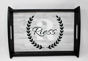 Custom Wood Serving Tray | Personalized Gift | Faux Wood | Kitchen Accessories - This & That Solutions