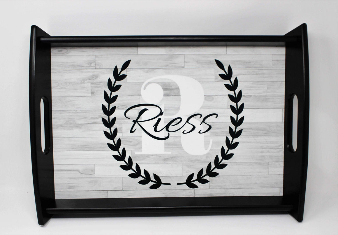 Custom Wood Serving Tray | Personalized Gift | Faux Wood | Kitchen Accessories