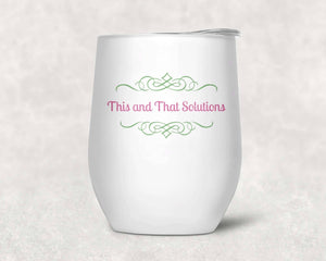 Personalized Stemless Wine Tumbler | Custom Wine Gifts | Succulent Bouquet | Wine Glass | SS - This & That Solutions