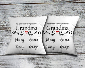 Decorative Pillows | Personalized Throw Pillow | Custom Decorative Pillow | Grandma's Greatest Blessing | This and That Solutions | Personalized Gifts | Custom Home Décor