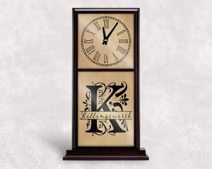 Clocks | Personalized Mantle Clock | Custom Wall Decor | Regal Monogram | This and That Solutions | Personalized Gifts | Custom Home Décor