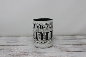 Mugs | Custom Coffee Mug | Personalized Coffee Mug | Word Art | This and That Solutions | Personalized Gifts | Custom Home Décor