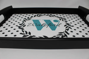 Trays | Custom Wood Serving Tray | Personalized Kitchen Accessories | Teal Wreath | This and That Solutions | Personalized Gifts | Custom Home Décor