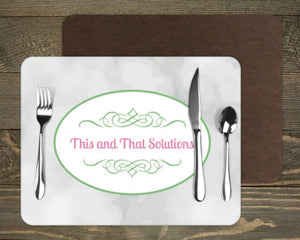 Placemats | Custom Placemats | Personalized Dining and Serving | Company Logo | This and That Solutions | Personalized Gifts | Custom Home Décor