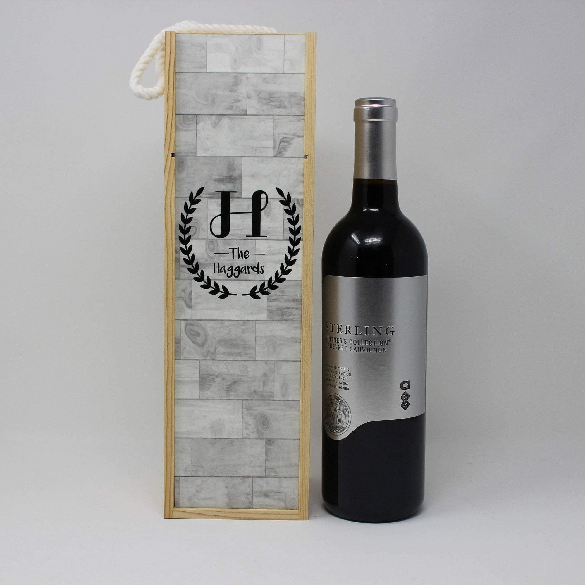 Wine & Beer Storage | Personalized Wine Box | Custom Wine Gifts | Wine Storage | Faux Wood | This and That Solutions | Personalized Gifts | Custom Home Décor