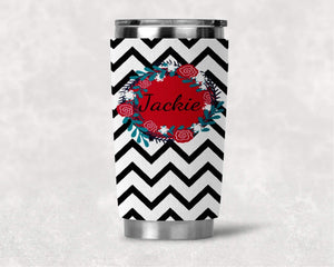 Cozies | Personalized Yeti Wraps | Custom Yeti Accessories | Black Chevron | This and That Solutions | Personalized Gifts | Custom Home Décor