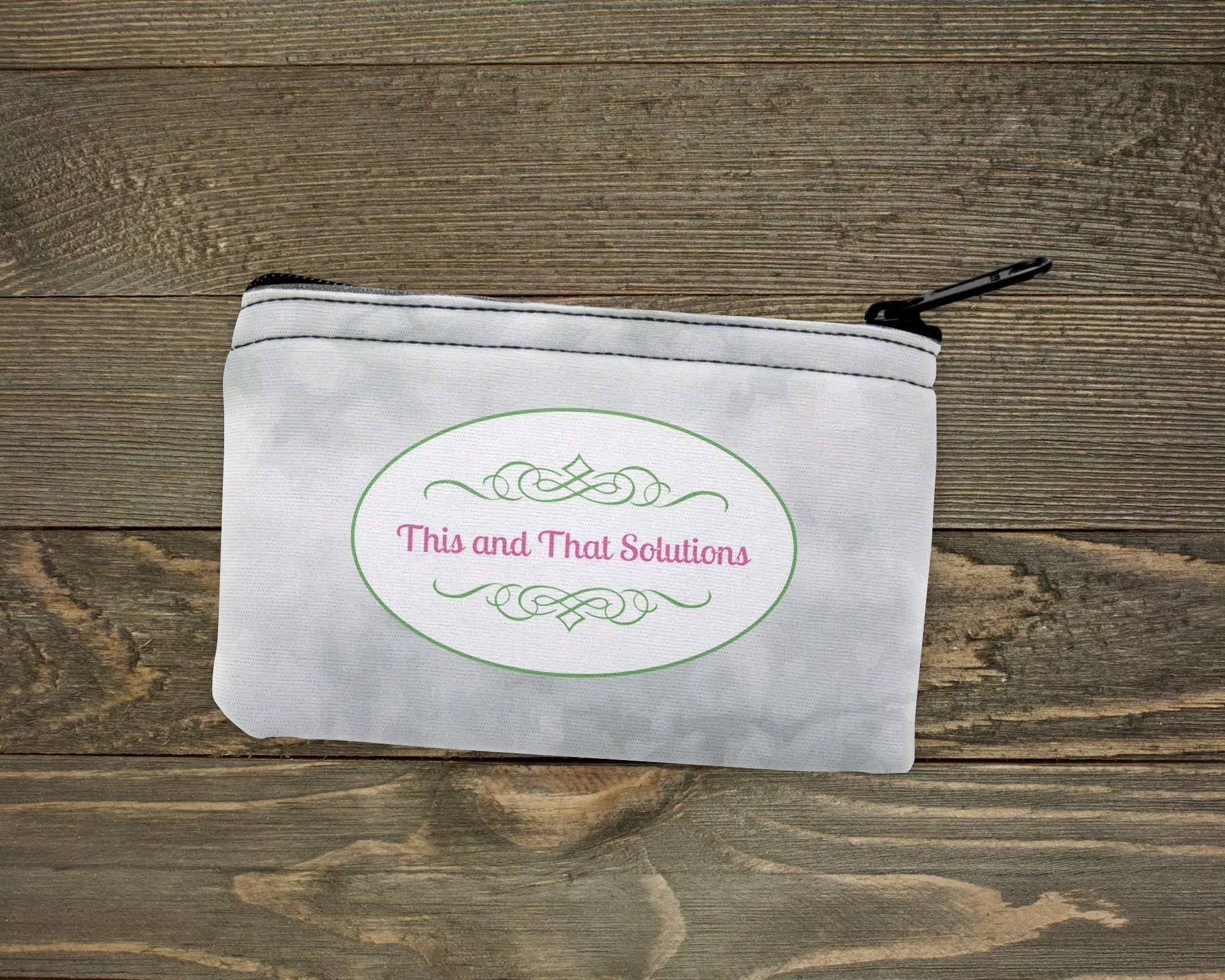 Pouches & Coin Purses | Personalized Coin Purse | Custom Bags | Company Logo | This and That Solutions | Personalized Gifts | Custom Home Décor