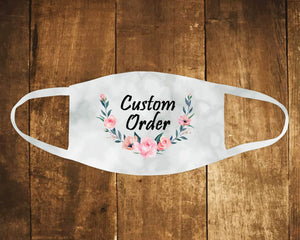 Face Masks & Coverings | Personalized Face Mask | Custom Face Coverings | Custom Order | This and That Solutions | Personalized Gifts | Custom Home Décor