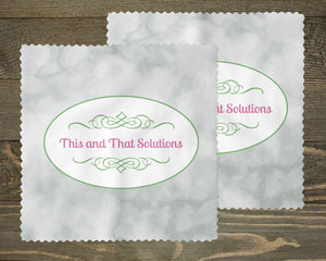 Glasses | Eyeglass Cleaning Cloth | Custom Eyewear | Company Logo | This and That Solutions | Personalized Gifts | Custom Home Décor