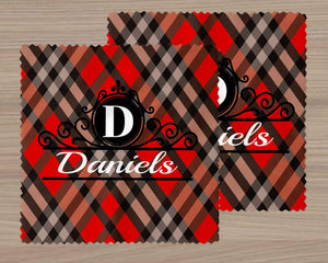 Glasses | Eyeglass Cleaning Cloth | Custom Eyewear | Red and Black Plaid | This and That Solutions | Personalized Gifts | Custom Home Décor
