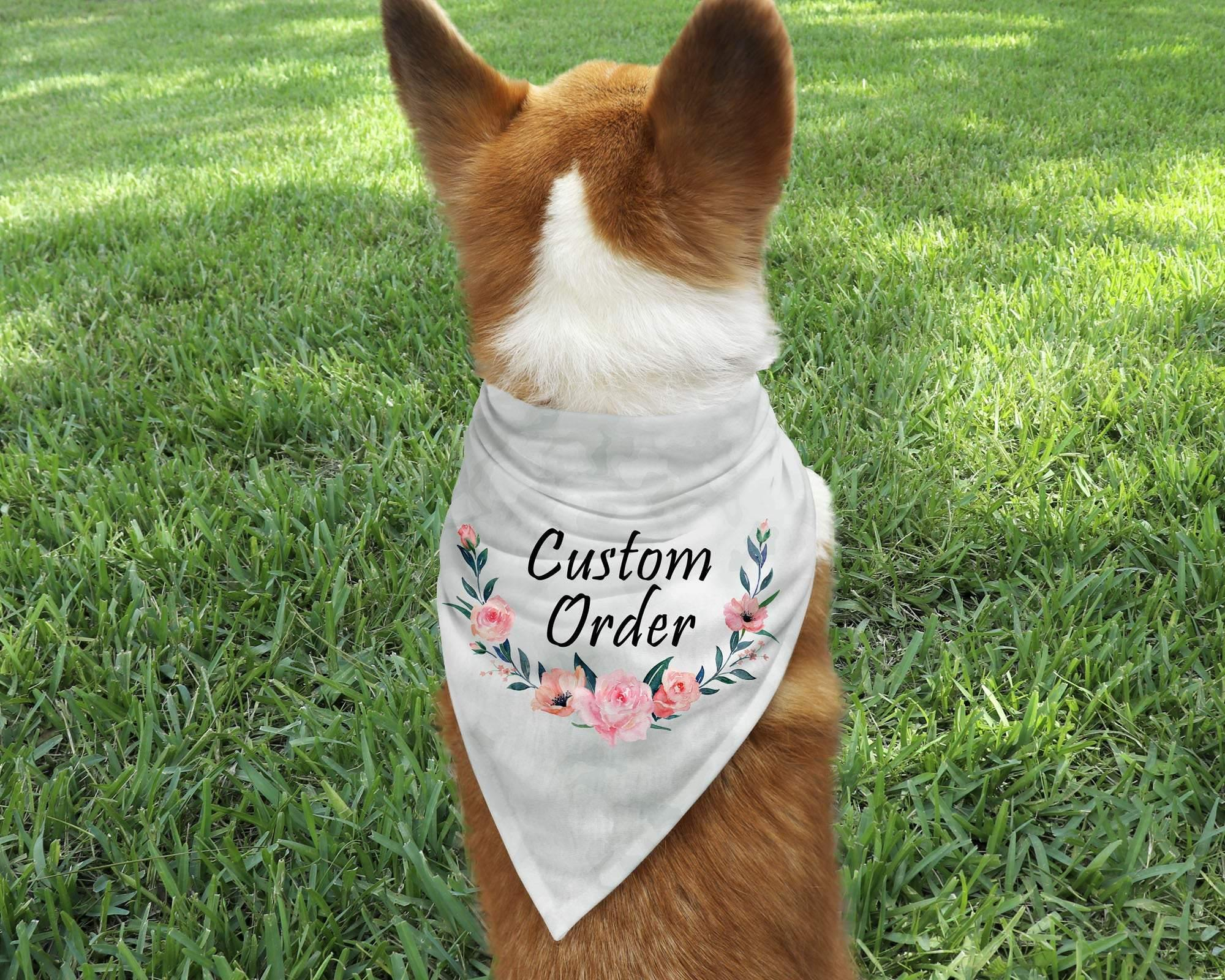 Pet Neckwear | Personalized Pet Bandanna | Custom Pet Bandanna | Pet Accessories | Custom Order | This and That Solutions | Personalized Gifts | Custom Home Décor