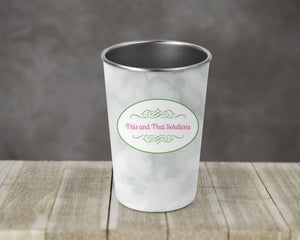 Tumblers & Water Glasses | Stainless Steel Pint Tumbler | Personalized Tumbler | Company Logo | This and That Solutions | Personalized Gifts | Custom Home Décor