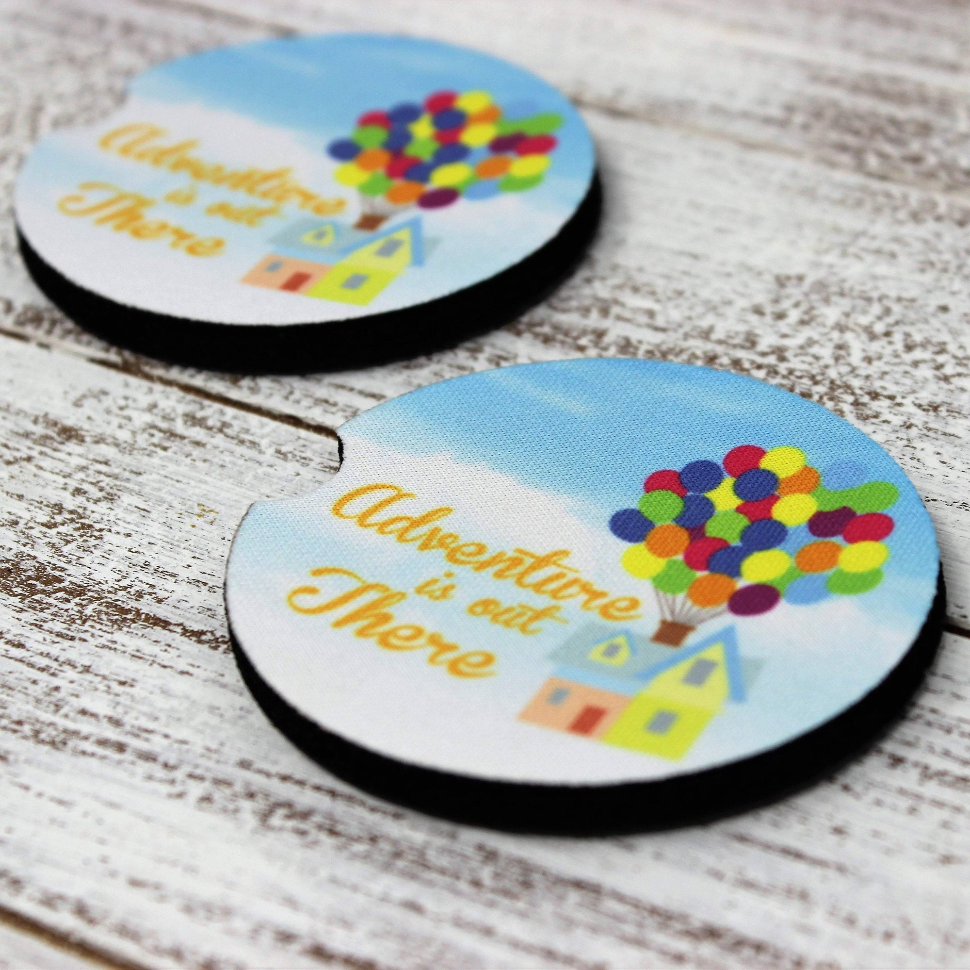Car Accessories | Personalized Car Coasters | Custom Car Accessories | Adventure | Set of 2 | This and That Solutions | Personalized Gifts | Custom Home Décor